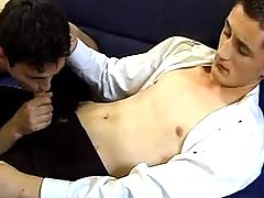Twink throats his cute boyfriend and makes him cock juice