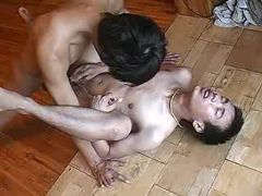Asian twink gets his unyielding ass licked and dicked