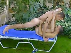 Nice gay creazy drills boyfriend outdoor
