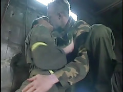 Horny man-lover twinks kiss in cellar