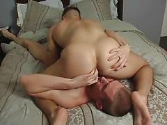 Hawt gay guy spreads buttocks for boyfriend