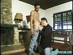 Lusty dad sucks innocent latin fellow