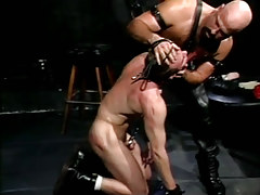 Granny hairy gay torments disobedient guy