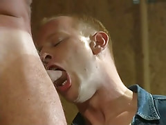 Hot gay boy face holes appetizing cock