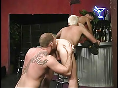 Hairy gay stripper loves to get rimmed in 3 movie