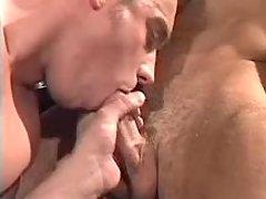 Soviet policemen blowing each other