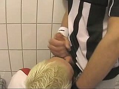 Adorable shy gay gets nailed and jizzed on table